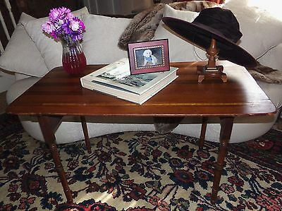 """Antique Late 1800's Wooden Folding Sewing Table Built In Measure 42"""" Long VNC"""