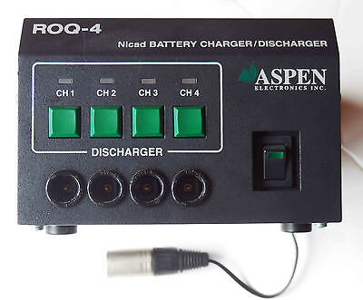 ASPEN ROQ4 BATTERY CHARGER  12-14.4V - XLR 4 pin & NP1 - V-mount Anton Bauer