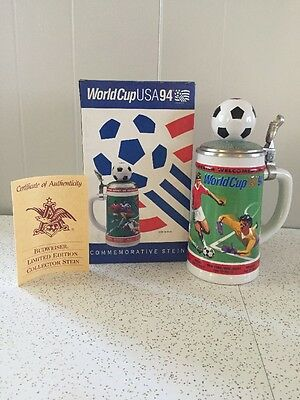 Vintage 1994 World Cup USA Commemorative Beer Stein Soccer