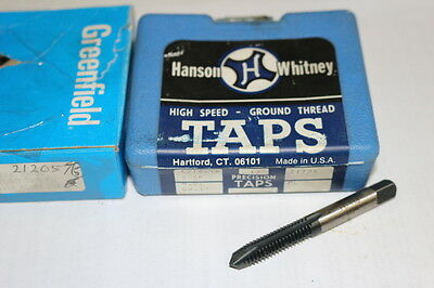 new HANSON WHITNEY GREENFIELD 5/16-18 NC GH-3 H3 3FL Oxide Spiral Point Plug Tap