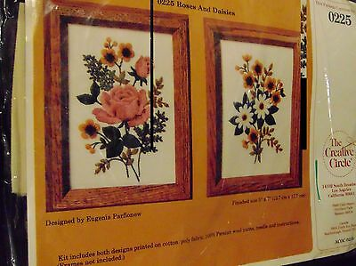 """The Creative Circle  Roses And Daisies #0225 By Eugenia Parfionow  5"""" x 7"""""""