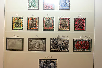 Collection Germany Deutsches Reich with signed