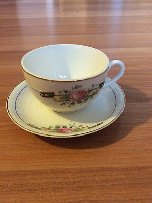 Derwood W.s. George Tea Cup And Saucer Set Made In Usa