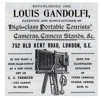 "Gandolfi Makers London vintage Folding Camera 5x4"" format"