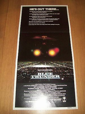 Blue Thunder movie poster original Australian day bill Roy Schneider