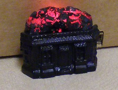 "1:12 Scale Dolls House Accessory 12v Working ""Home"" Fire In A Black Metal Grate"