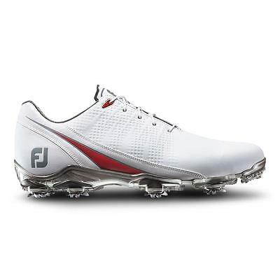 New in box 2017 FootJoy DNA Mens Golf Shoes 53310 White/Red Many Sizes & Widths