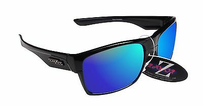 RayZor 424 Uv400 Black Framed Blue Mirrored Lens Archery Sunglasses RRP£49