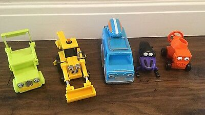 Bob The Builder Toys 5 X Friction Vehicles  Great Condition
