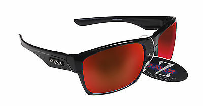 RayZor Uv400 Black Framed Red Mirrored Lens Archery Sport Wrap Sunglasses RRP£49