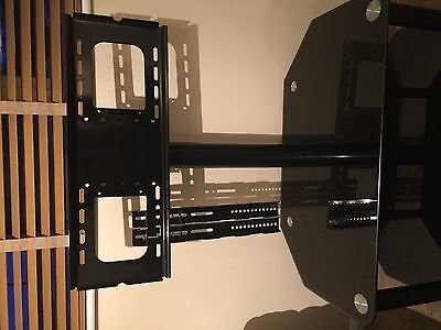 """Black Glass TV Stand - 30"""" - 50"""" (with all brackets)"""