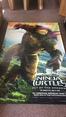 TMNT: OUT OF THE SHADOWS (2016) Raph + Mikey (reversible) UK CINEMA BANNER