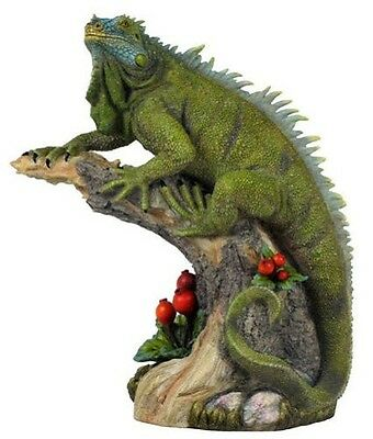11 Inch Wildlife Iguana Reptile Lizard Statue Sculpture Figurine Animal Decor