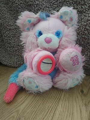 Vintage Retro Brush a Loves Soft Plush Toy Pink 1980's Mirror Teddy
