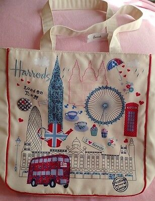 London Town Applique Print  Bag - NWT Canvas Tote Bag from Harrods