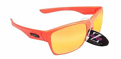 RayZor Uv400 Orange Hiking Wrap Sunglasses Orange Mirrored Lens RRP£49 (424)