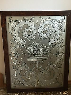 18th Century Framed Victorian Glass Panel