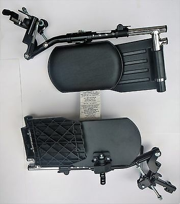Invacare GT95HC Elevating Leg Rest with Footplate for Standard Wheelchair 1pr
