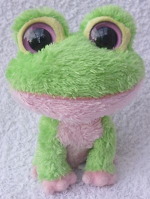Rare Ty Beanie Boos/Boo Soft Plush Toy Kiwi the Green & Pink Frog 2009 6""