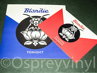 """Blondie Tonight 7"""" Etched 1 Sided Single Unplayed Camden Pop-Up Store Card"""