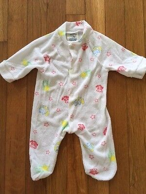 Vintage 1980's Lullaby Land Soft Puppy Dreams Newborn One Piece