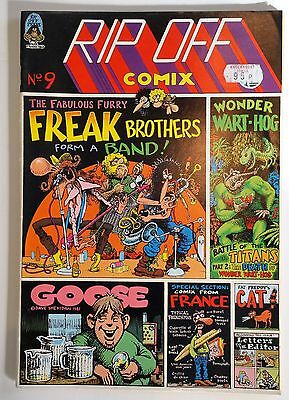 Rip Off Comix  No.9   Furry Freak Brothers - Gilbert Shelton