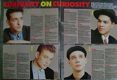 CURIOSITY KILLED THE CAT - magazine clipping / cutting from 1987