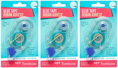 Tombow 62107 Adhesive REFILL for 62106 / 62201 Applicators-3 pack Replaces 62202