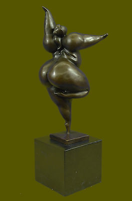 Original Milo Abstract Nude Female Tribute to Botero Style Bronze Sculpture Sale