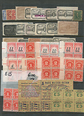 Stockpage Of Postage Due Plate Blocks, Official Seals & Back Of Book!