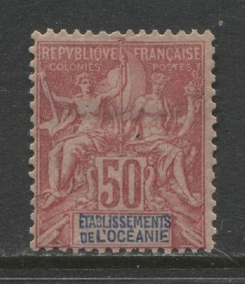 1892 French colonies  POLYNESIA  50 c. Sage  issue  mint*