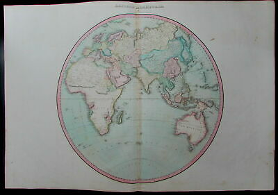 World Hemisphere Africa Mts. Moon New Holland c.1810 rare Pinkerton huge old map