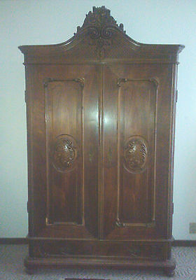 Antique  Armoire -  Dark Woods -Very Nice Condition