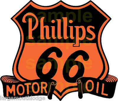 2 Inch Phillips 66 Motor Oil Waterslide Decal Sticker