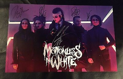 RARE MOTIONLESS IN WHITE MIW Autographed Poster Signed By All Eternally Yours