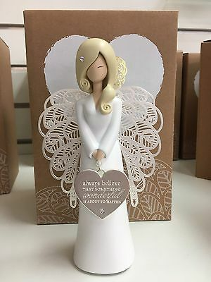 You are an angel figurine ALWAYS BELIEVE New in Gift Box friendship