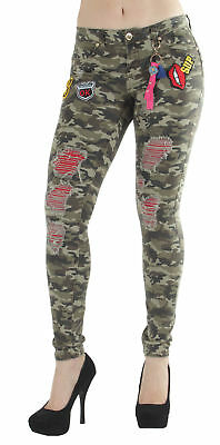 DN8-8N025(S) - Premium, Camouflage, Butt Lift, Patched Rip Repair Skinny Jeans