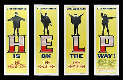 HELP ! ✯ CineMasterpieces THE BEATLES ORIGINAL DOOR PANEL SET MOVIE POSTERS 1965