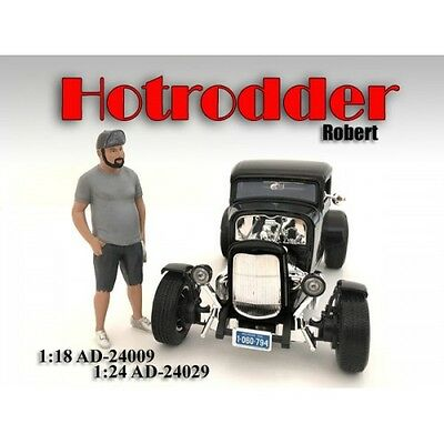1/24 FIGURINE/Figure - HOTRODDER ROBERT for your shop/garage-AMERICAN DIORAMA