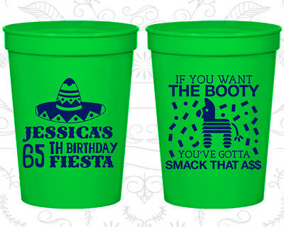 65th Party Favor Cups Fiesta Birthday CupsBirthday 20287