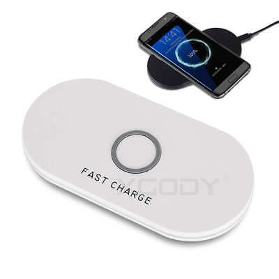 Ultra-Slim 10W Fast Qi Wireless Charger Charging Pad Dock For Iphone 7 6 5 Plus