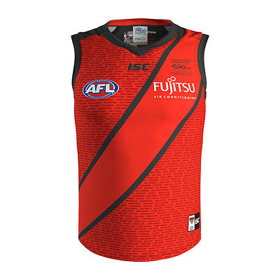 Essendon Bombers AFL 2017 ISC Clash Guernsey Adults & Kids Sizes!  On Sale!