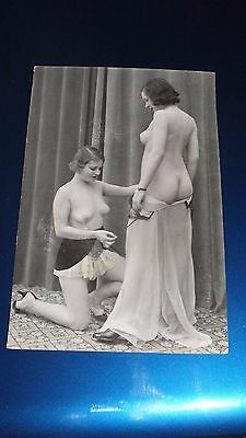 Erotic Postcard 1910-20? 2 Young Woman Undressing