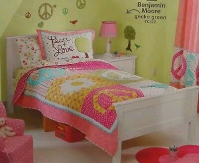 Circo Peace & Love Collection Pillow Shams ~ Pink Aqua Yellow Polka Dots ~ Pair