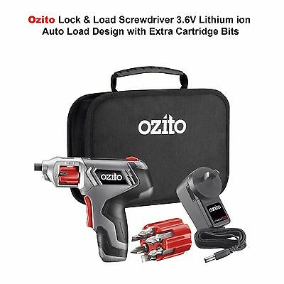 Ozito 3.6V Cordless Lithium ion Handy Screwdriver with Pre-Loaded Drill Bits