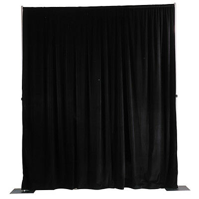 Ultra Velour Pipe and Drapery Background System Black 16' x 13'-917-36795