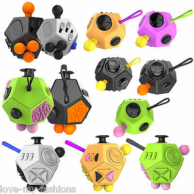 12 Sided Fidget Spinner Toy Cube Magic Dice for Relieves Stress Anxiety Autism