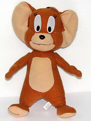 "Tom & JERRY MOUSE Plush 13"" Mouse  Hanna Barbera Tom & Jerry Cartoon Toy"