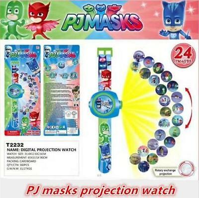 Cartoon Pj Masks Party 3D Projection Watch Pjmasks Toys Characters Catboy Owlett