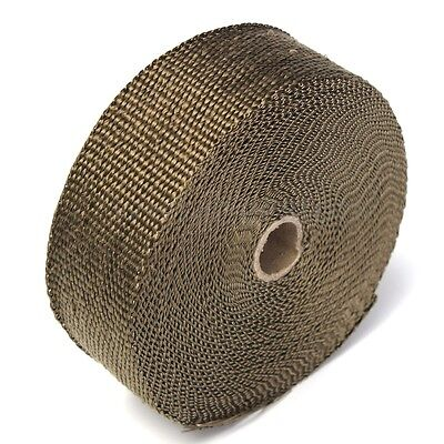 15M Titanium Exhaust Heat Wrap Roll Cable Pipe With 6 Stainless Ties Kit